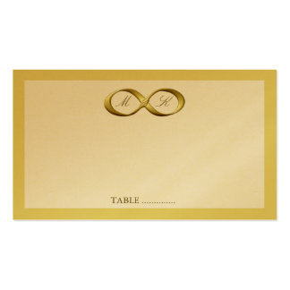 Gold Golden Infinity Hand Clasp Wedding Place Card Business Cards