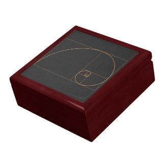 Gold Golden Spiral Gift Box