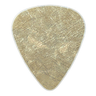 gold / golden texture chic pearl celluloid guitar pick