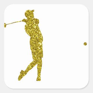 Gold Golf Sticker
