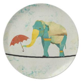 Gold Graceful Elephant Plate