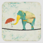 Gold Graceful Elephant Sticker