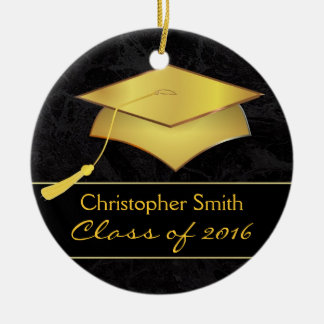 Gold Grad Cap Ornament - Graduation Photo Gift