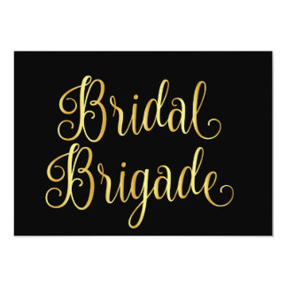 Gold gradient black for bridal brigade card