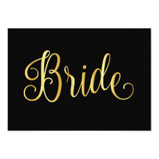 Gold gradient black for bridal card
