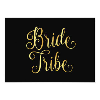 Gold gradient black for bride tribe card
