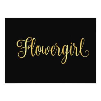 Gold gradient black for flowergirl card