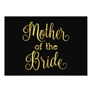 Gold gradient black for mother of the bride card