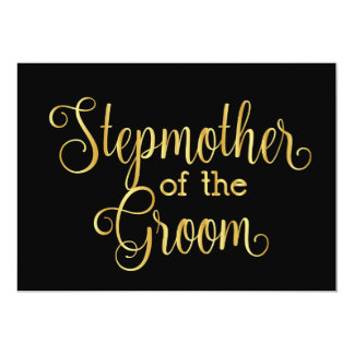 Gold gradient black for stepmother of the groom card