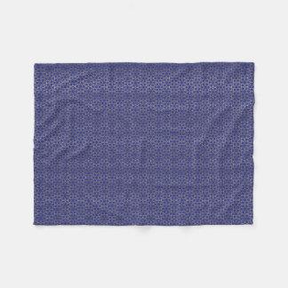 Gold gradient effect star pattern blue fleece blanket