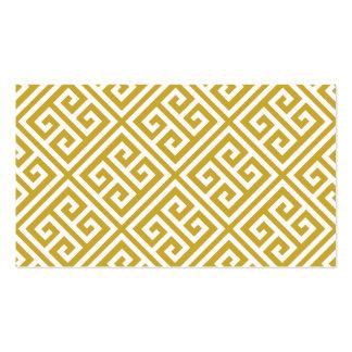 Gold Greek Key Blank Business Card Template