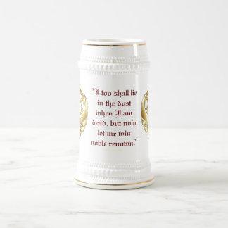 Gold Greek Warrior's Red Border Stein Beer Steins