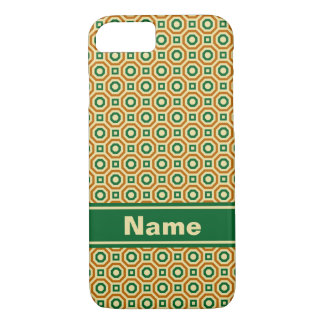 Gold/Green/Brown Nested Octagons Case