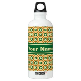 Gold/Green/Brown Nested Octagons Water Bottle SIGG Traveller 0.6L Water Bottle