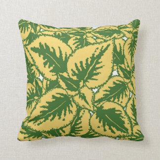 Gold Green Coleus Plant Decor#7 New Throw Pillow