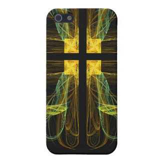 Gold & Green Cross Fractal 4  Cover For iPhone 5/5S