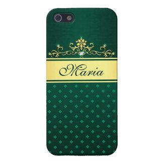 Gold & Green Diamonds Case Savvy iPhone 5/5S Case