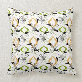 Gold, Green, White, Black | Mid-Century Fifties Cushion
