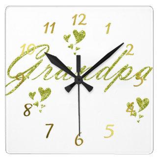 gold grendpa clock