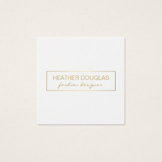 Gold Grey Foil Shine Square Business Card
