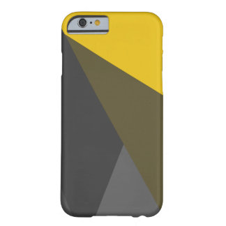 Gold Grey Triangles iPhone 6 Case, Barely There Barely There iPhone 6 Case