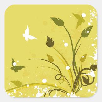 Gold Grunge Butterfly Sticker