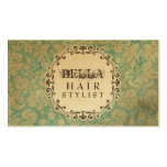 GOLD Grunge Damask Hair Stylist Appointment Cards Business Cards