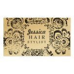 GOLD Grunge Floral Hair Stylist Appointment Cards