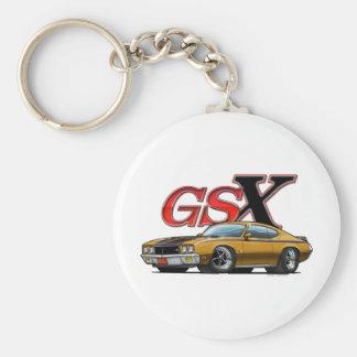 Gold_GSX Basic Round Button Key Ring