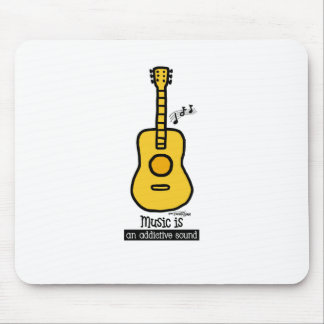 Gold Guitar Mouse Pad