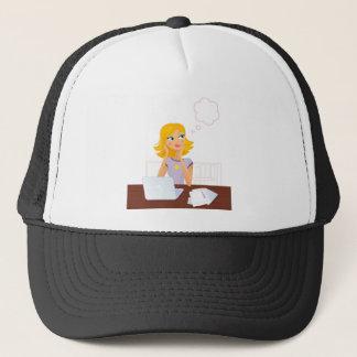 Gold hair Illustrated Secretary : Tshirts Trucker Hat