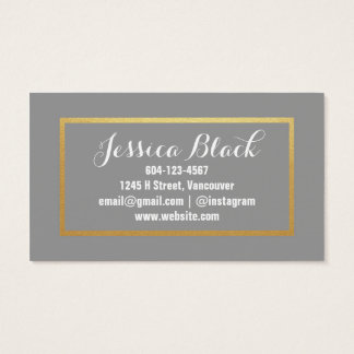 Gold Hair Stylist Business Card