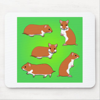 Gold hamster mouse pad