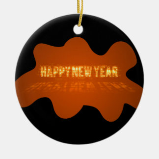 Gold Happy New Year Ornament