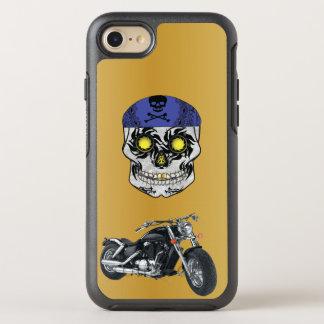 Gold Harley Biker Candy Skull phone Case