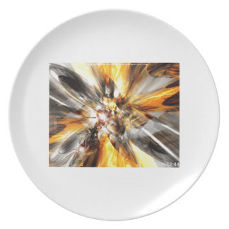 Gold Haze Party Plate
