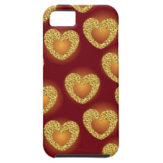 Gold heart 3 iPhone 5 cases
