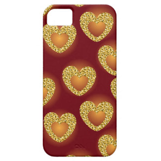 Gold heart 3 iPhone 5 cover
