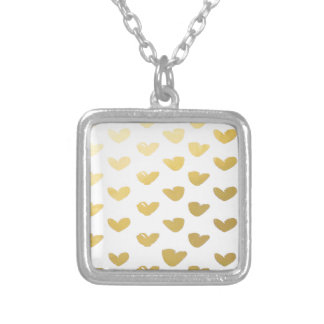 Gold Heart Love Holiday Silver Plated Necklace