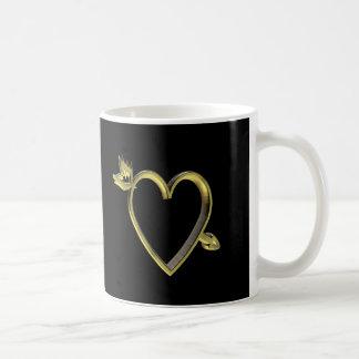 Gold Heart T-shirts and Gifts Coffee Mug
