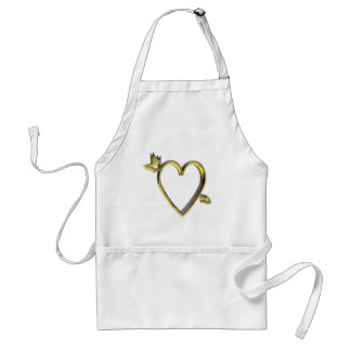 Gold Heart T-shirts and Gifts Standard Apron