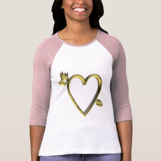 Gold Heart T-shirts and Gifts