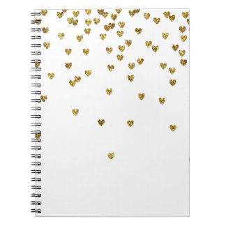 Gold Hearts Notebooks