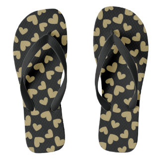 Gold Hearts Thongs