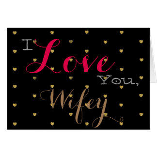 Gold Hearts Valentine's Day horizontal Card