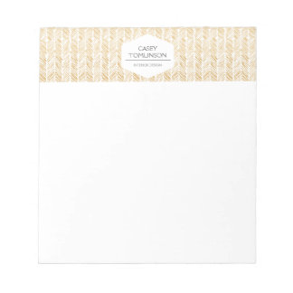 GOLD HERRINGBONE / CHEVRON ARTWORK Notepad