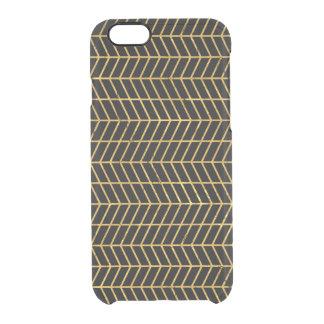 Gold Herringbone Clear iPhone 6/6S Case