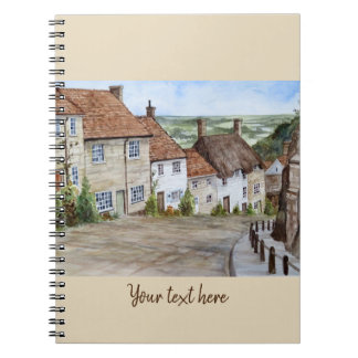 Gold Hill, Shaftesbury, Dorset Watercolor Painting Notebooks
