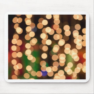Gold Holiday Bokeh Design Mouse Pad