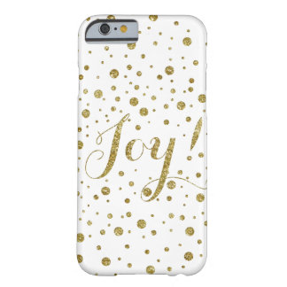 Gold Holiday Joy Confetti Barely There iPhone 6 Case